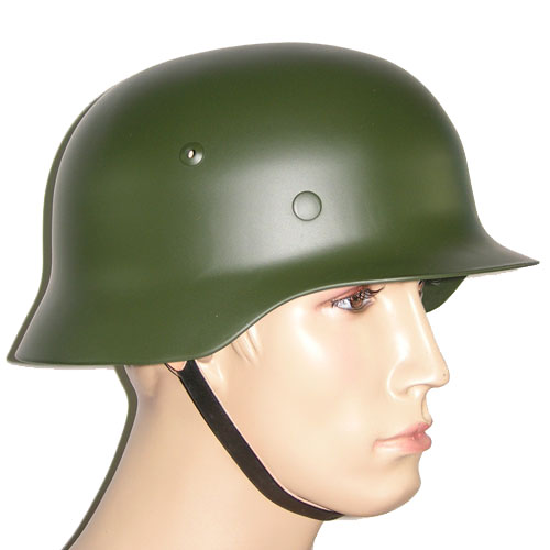 WW2 German Steel M35 Helmet in Field Green